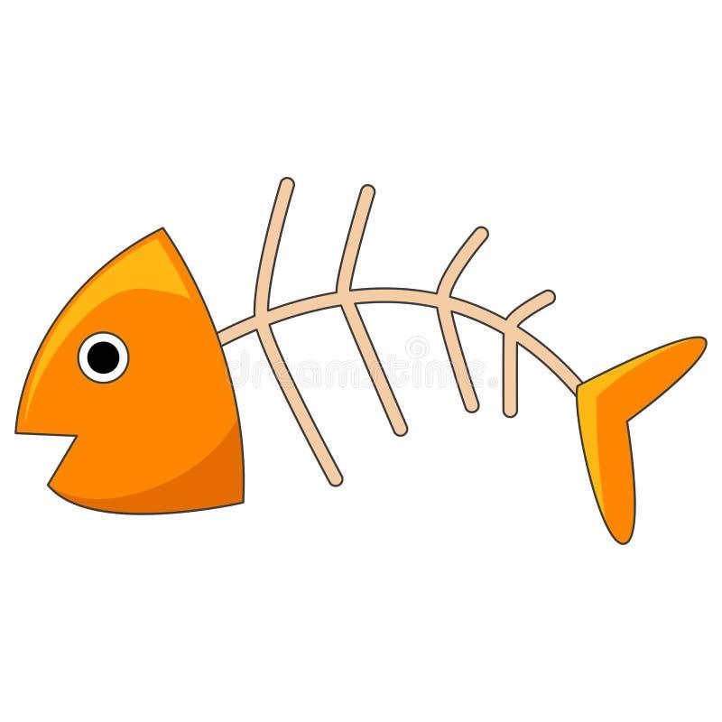 Fiskben stock illustrationer