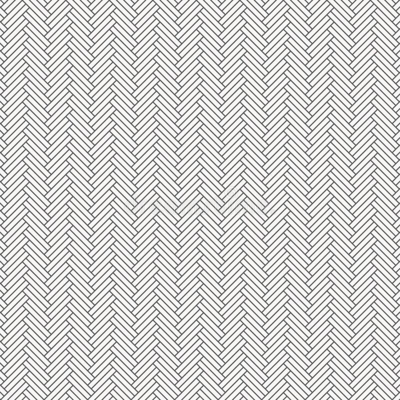 Fiskbensmönstermodell Rektangeltjock skivatessellation Den sömlösa yttersidadesignen med vit lutar att belägga med tegel för kvar stock illustrationer