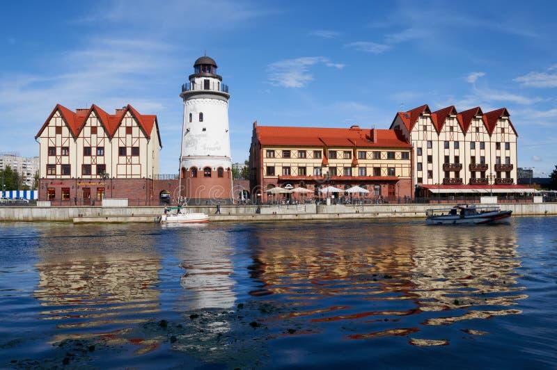 Download Fiskby. Kaliningrad. Ryssland Redaktionell Foto - Bild av ytter, solnedgång: 37344185