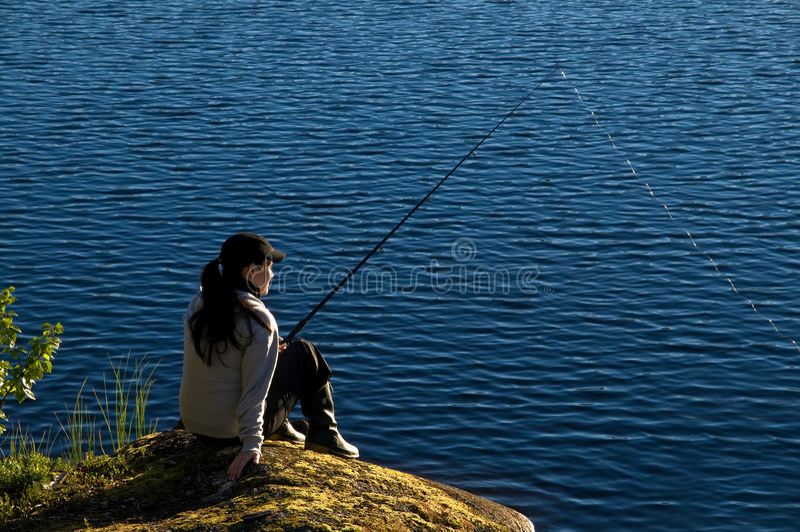 fiske lapland royaltyfria foton