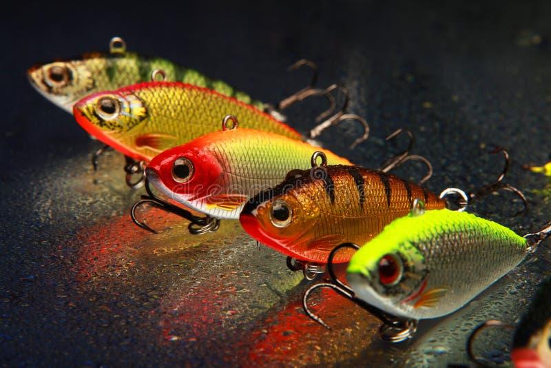 fiske lockar royaltyfri foto