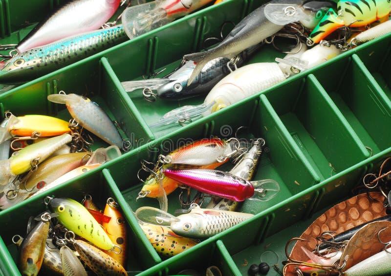 fiske lockar royaltyfria foton