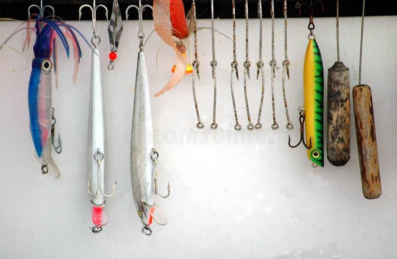 fiske lockar arkivfoton