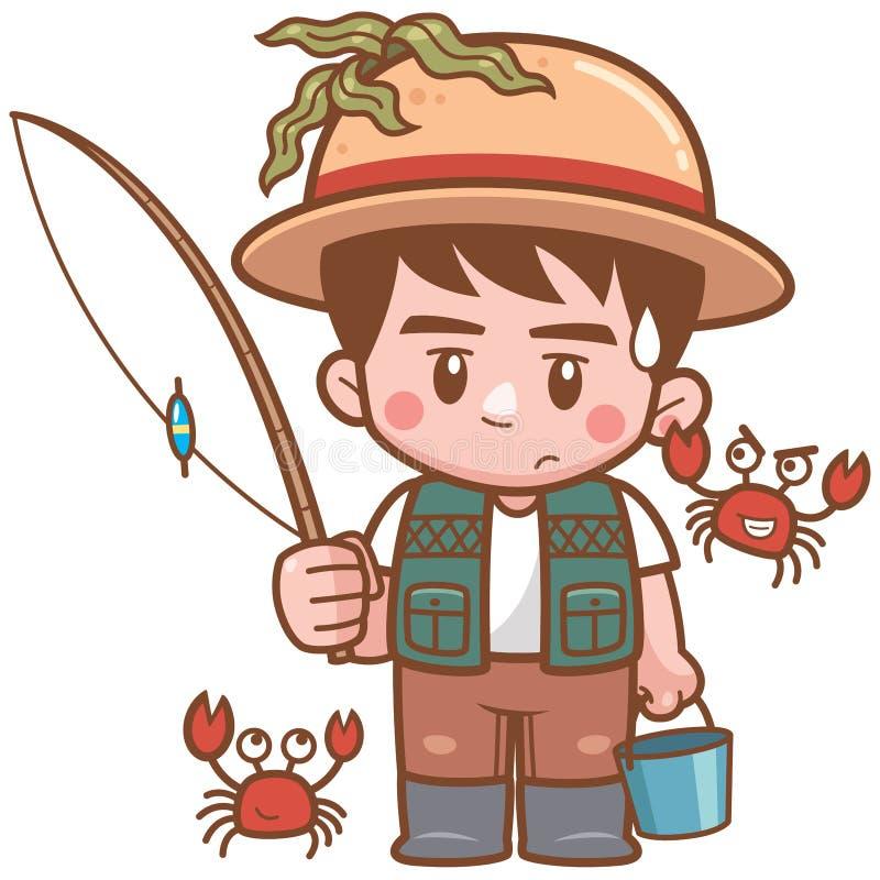 fiske stock illustrationer