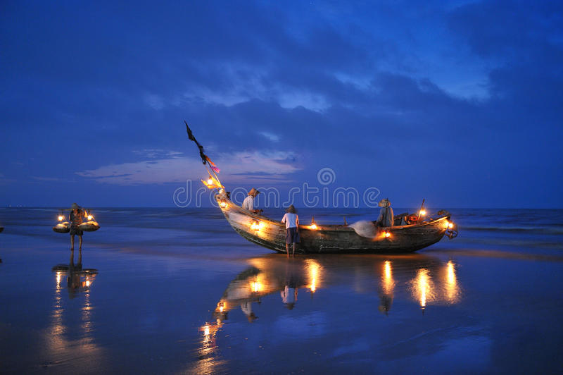 Fiskebåtar royaltyfri bild