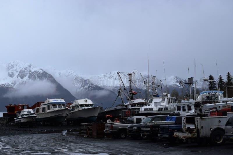 Fiskebåtgård arkivbild