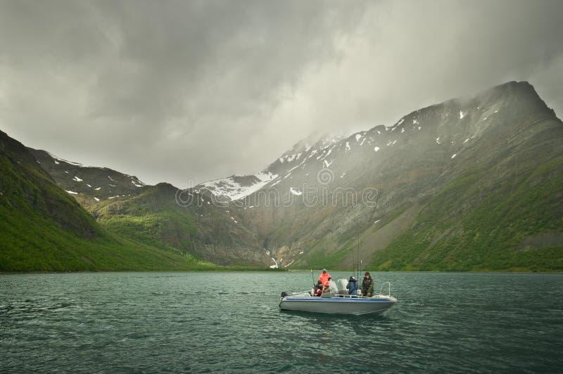 fiskefjord royaltyfria foton