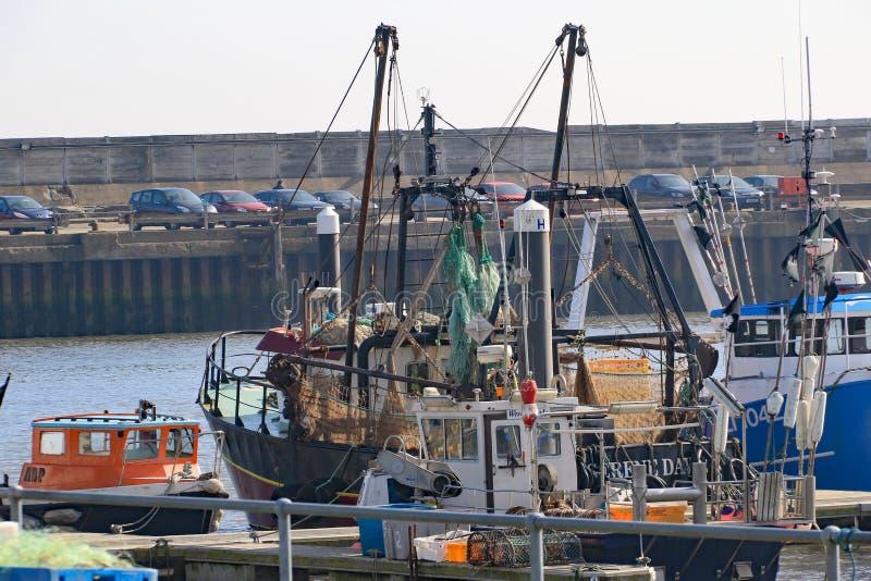 Fiskeflotta på Lowestoft arkivfoto