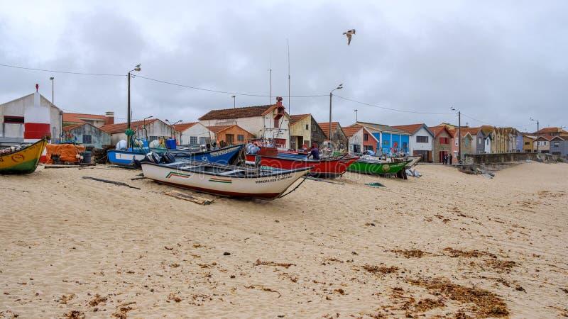 Fiskeflotta Vila Cha royaltyfri foto