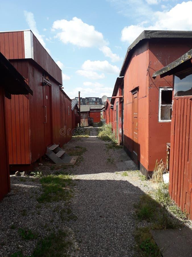Fiskehus i Danmark arkivfoton