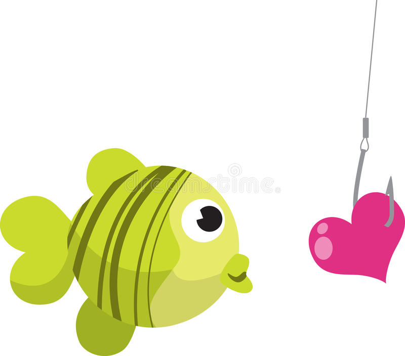 fiskekrok royaltyfri illustrationer