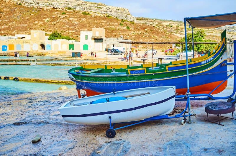 Fiskeläge av San Lawrenz, Gozo, Malta royaltyfri bild