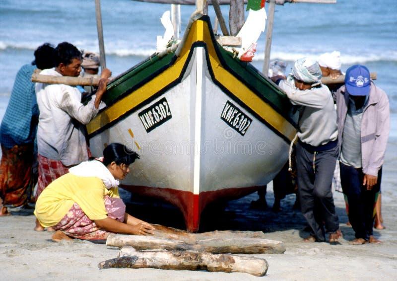 Fiskeläge på Bachok, Kelantan royaltyfri bild