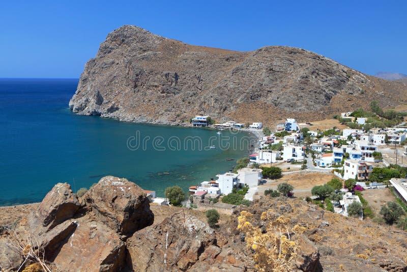 Fiskeläge på den Crete ön i Grekland royaltyfri foto