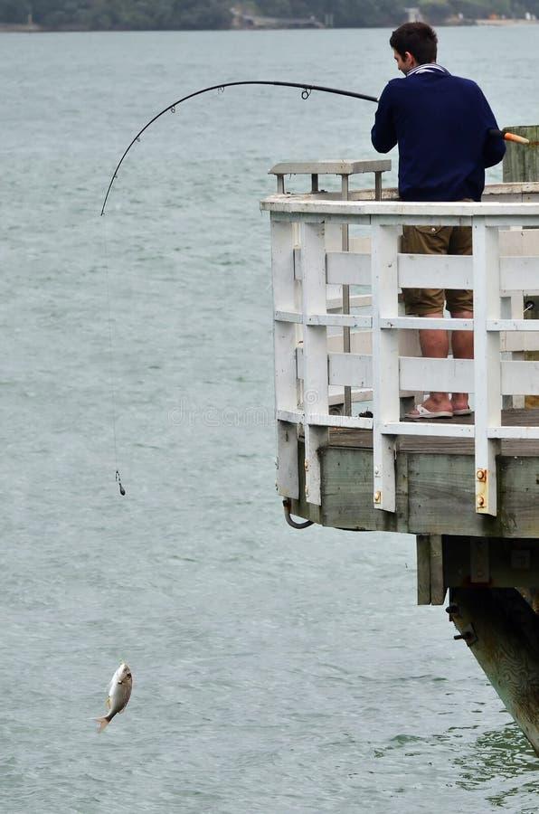 fiskeman arkivbild