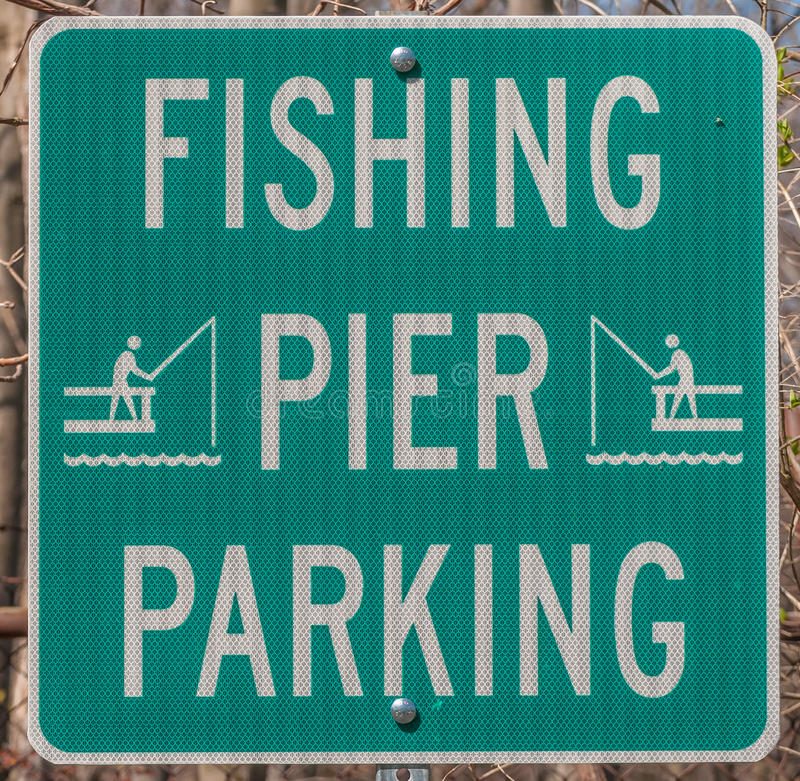 Fiskeparkeringstecken fotografering för bildbyråer