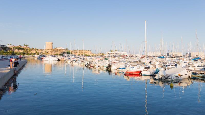 Fiskeport av El Campello royaltyfri fotografi