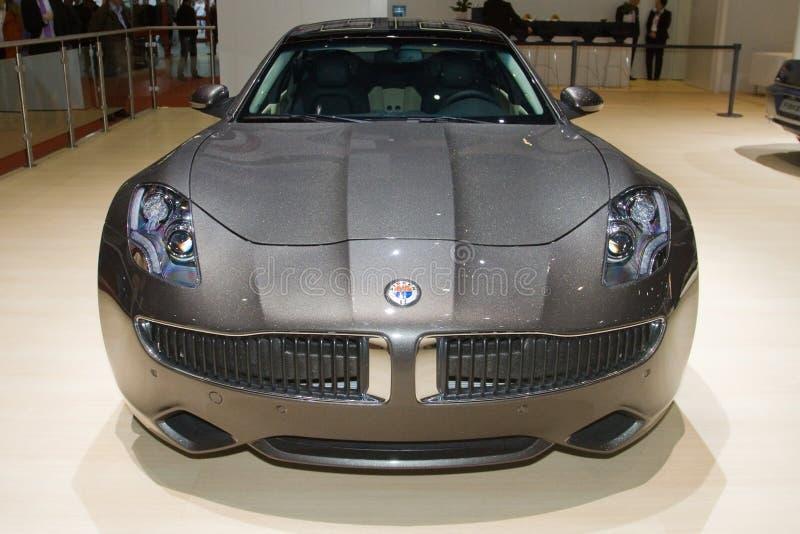 Fisker羯磨曾经的2013年日内瓦汽车展示会 免版税库存图片