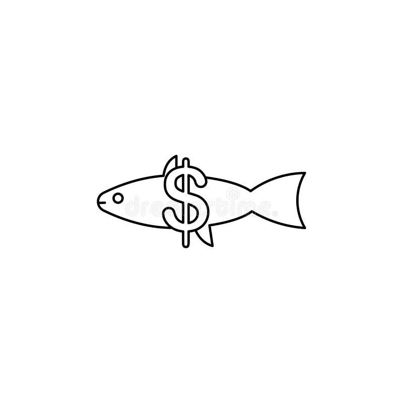 fiskförsäljningslinje vektorsymbol vektor illustrationer