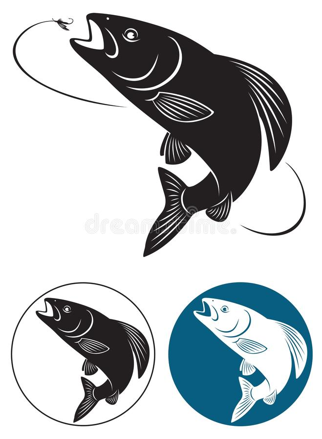Fiskgrayling royaltyfri illustrationer