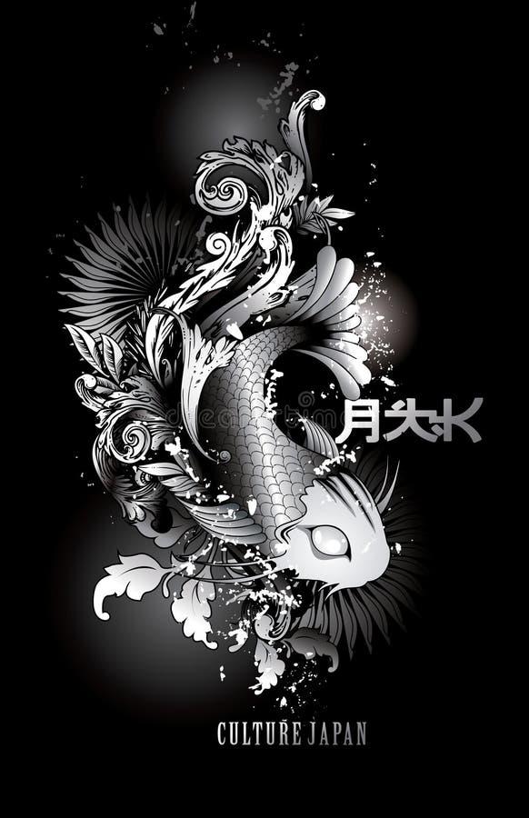 fiskillustrationvektor royaltyfri illustrationer