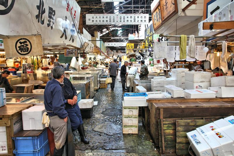 fiskjapan marknad arkivfoton