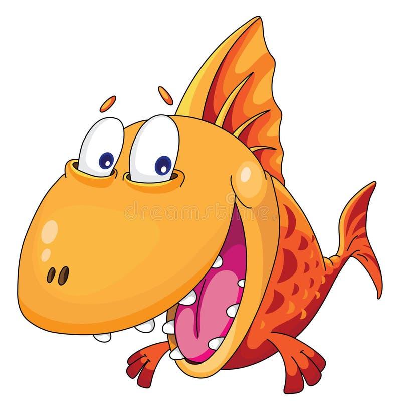 fiskleenden royaltyfri illustrationer