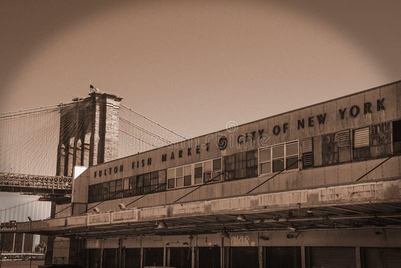 Fiskmarknad NYC royaltyfri fotografi