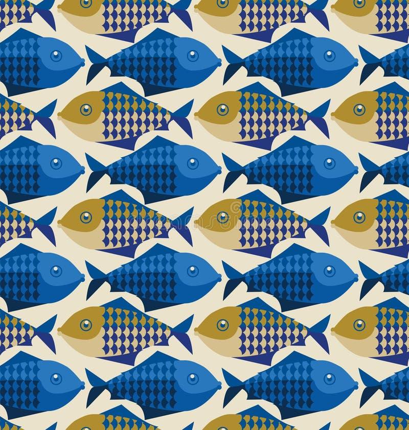 fiskmodell royaltyfri illustrationer