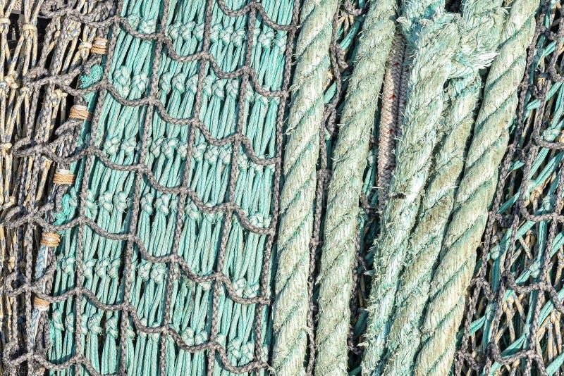 Fisknätbakgrund arkivfoton