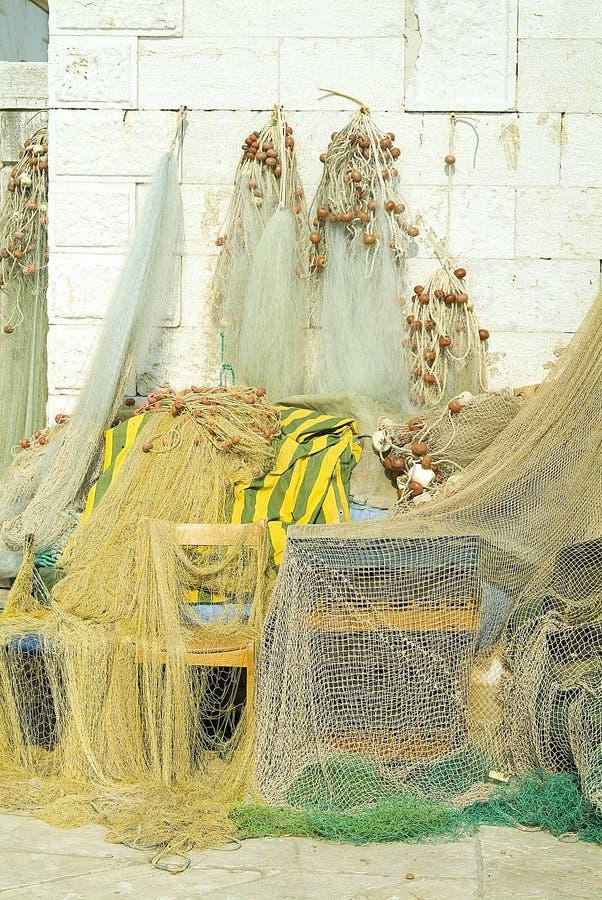 fisknätseaport royaltyfria foton