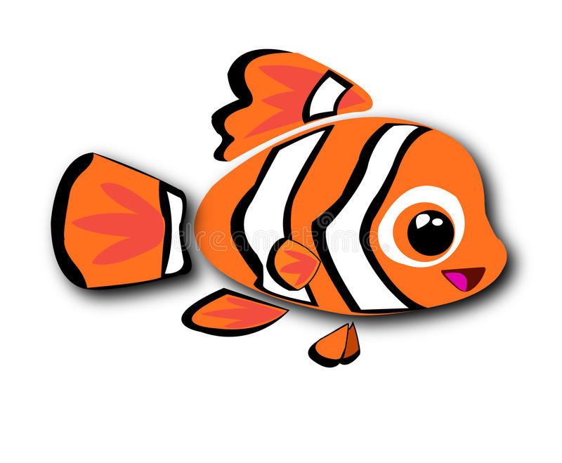 fisknemo stock illustrationer