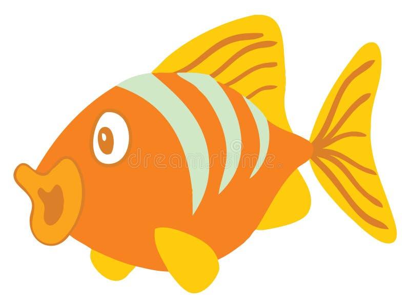fiskorange stock illustrationer