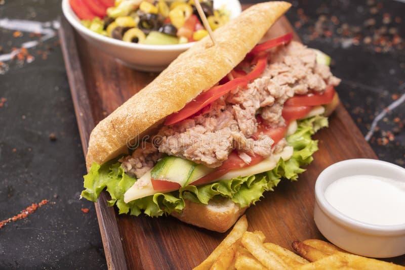 Fisksmörgås royaltyfri foto