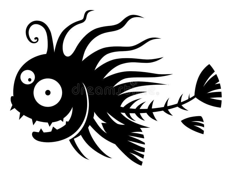 Fiskspöke vektor illustrationer