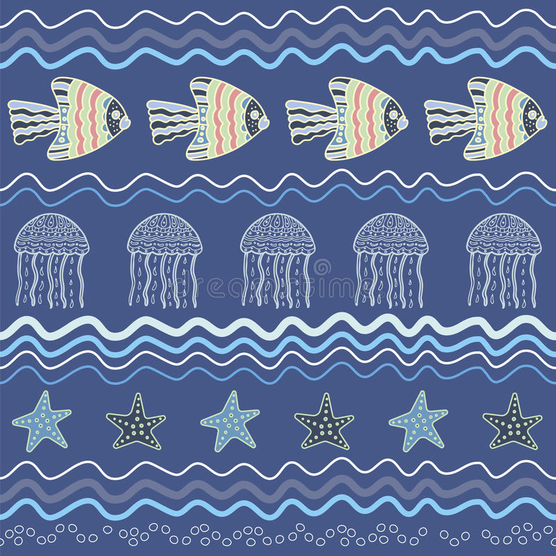Fiskstjärnamanet vektor illustrationer