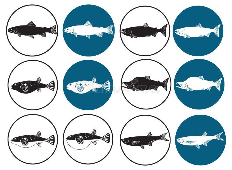 fisksushi royaltyfri illustrationer