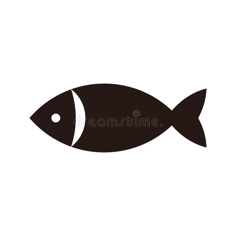 Fisksymbol royaltyfri illustrationer