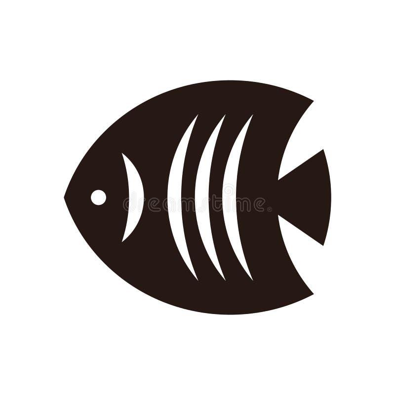 Fisksymbol stock illustrationer