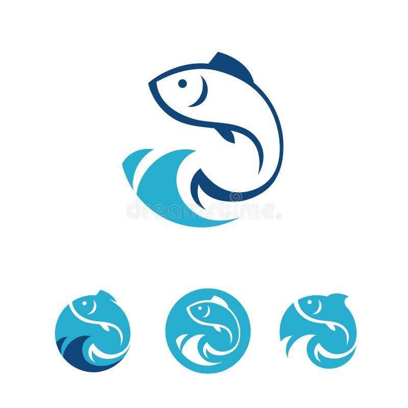 Fisktecken royaltyfri illustrationer