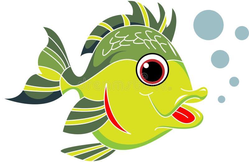 Fisktecknad film vektor illustrationer