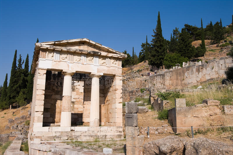 Fiskus von Athenians in Delphi lizenzfreies stockfoto