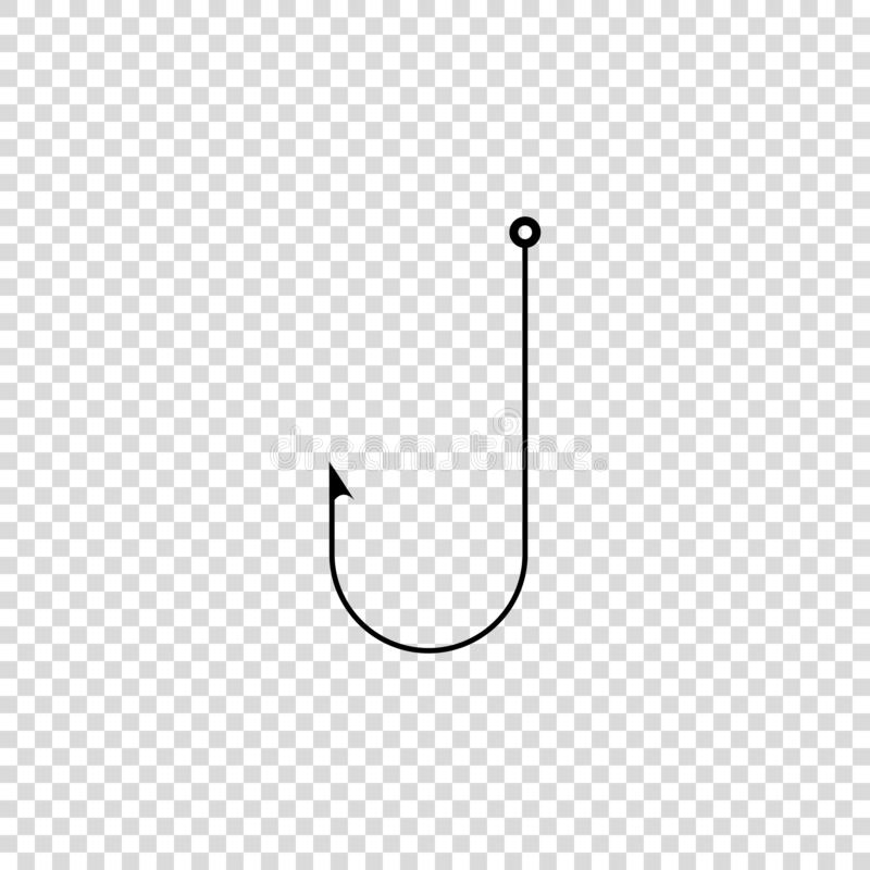 fisning hook vector icon on empty background stock illustration