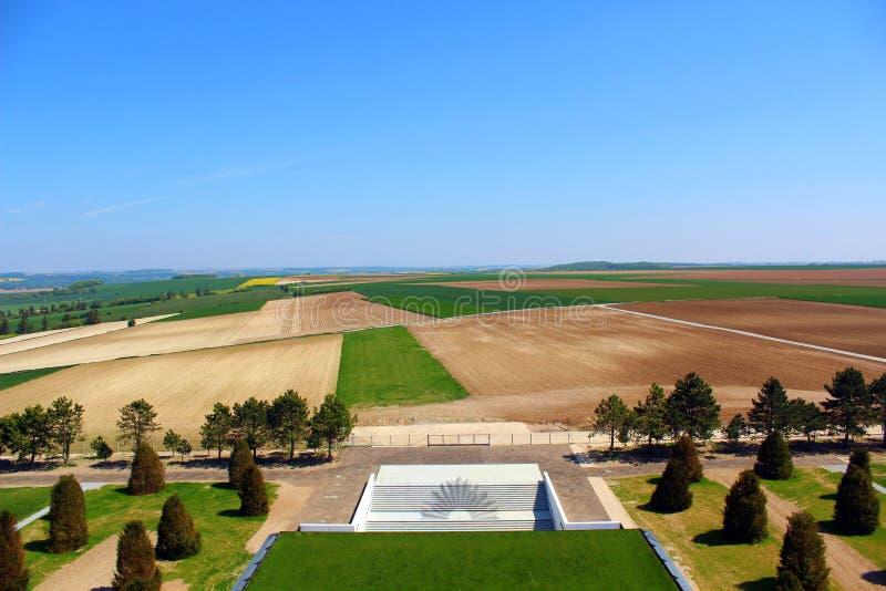 fisrt的austalian公墓worldwar在villers bretonneux在皮卡第 图库摄影