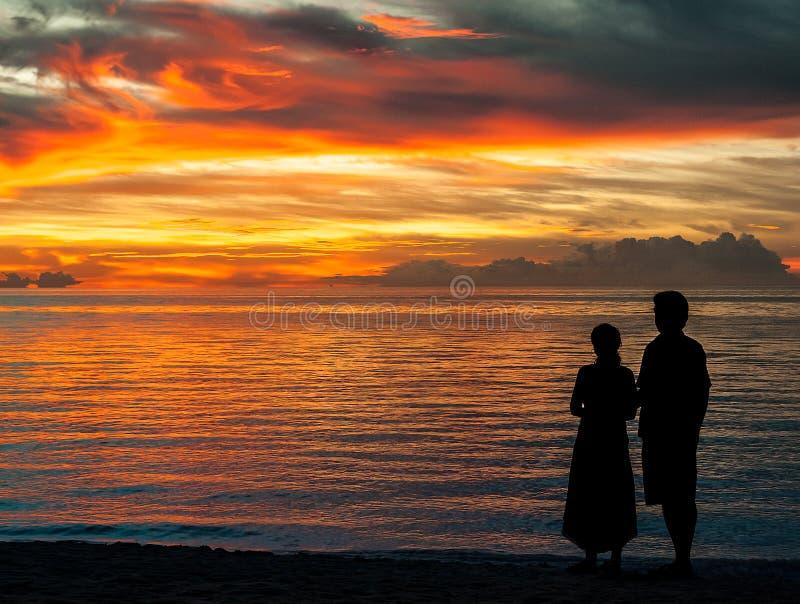 Fissando al tramonto immagine stock libera da diritti