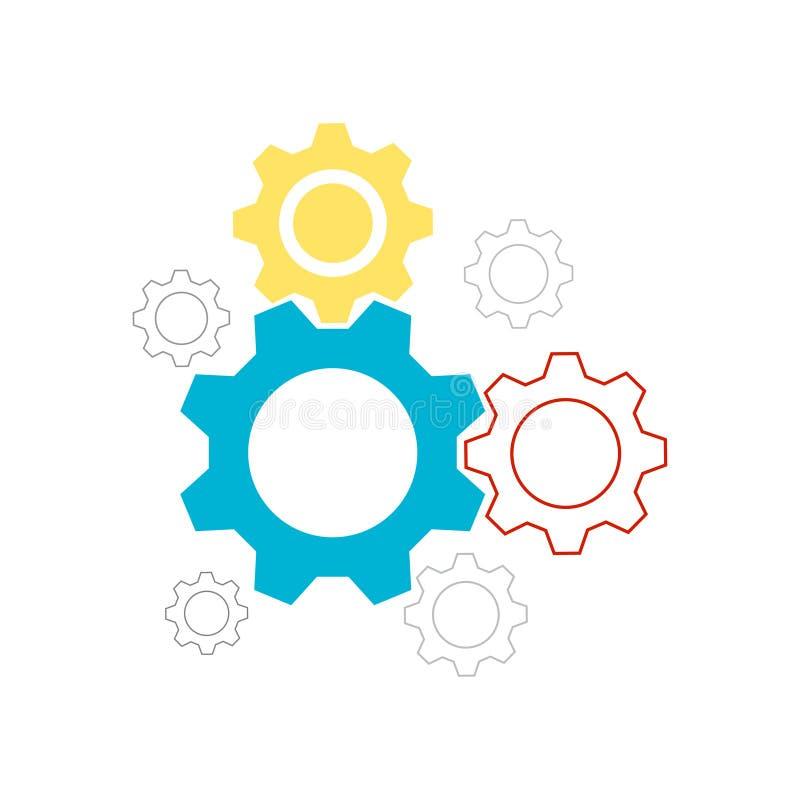 Fissazione del vettore dell'icona, ingranaggio, icona, illustrazione eps10 di vettore illustrazione vettoriale