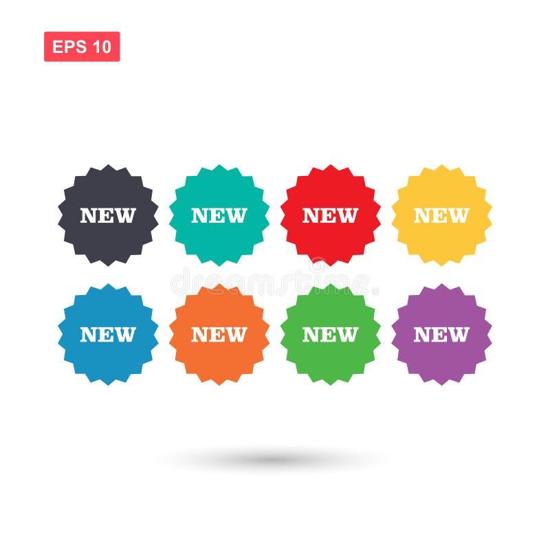 Fissi i colori di nuovo vettore del bottone della stella isolati royalty illustrazione gratis