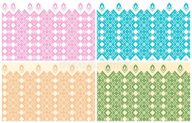 Fissi i vettori Bello modello sull'ambiti di provenienza leggeri colorati royalty illustrazione gratis