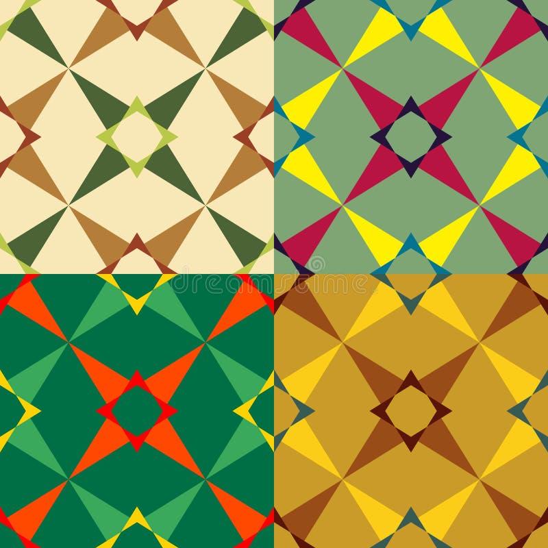 Fissi il colore del modello geometrico senza cuciture royalty illustrazione gratis