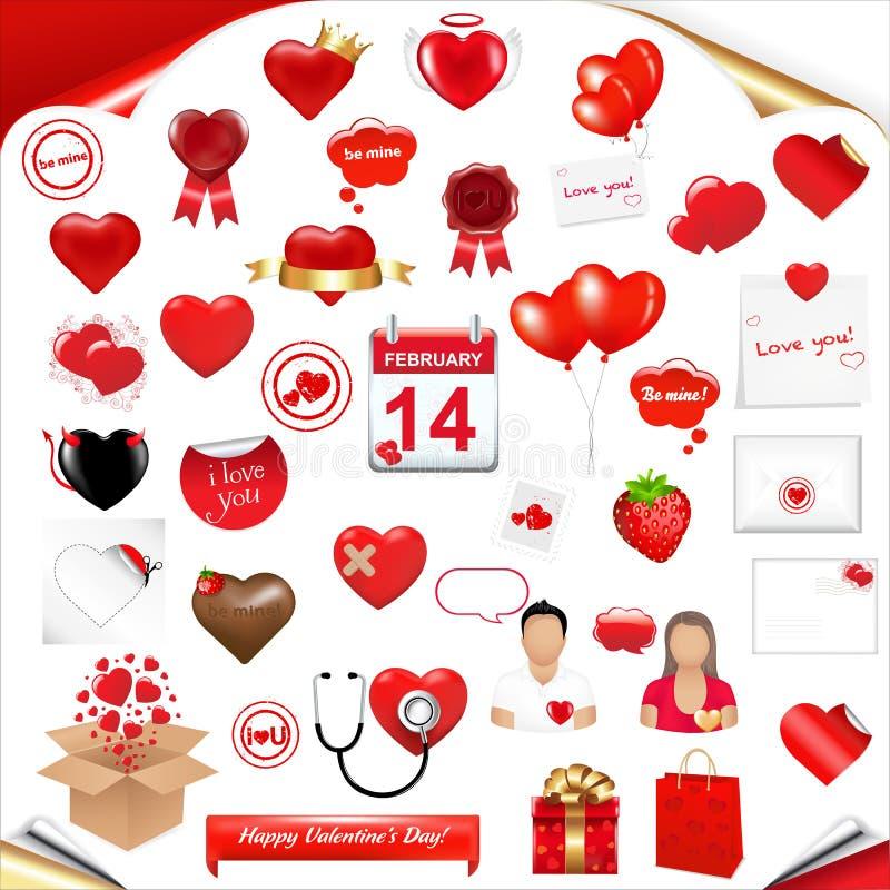 Fissi l'amore royalty illustrazione gratis